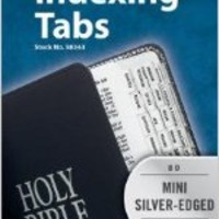 Bible Tab: Clear Tab with Silver Center Strip & Black Lettering