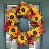 Autumn Wreaths for Front Door - Fall Wreath - Fall Front Door Wreaths - Fall Indoor Wreath - Autumn Front Door Wreath - Wreaths for Fall