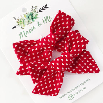 Heart Pigtail Bows