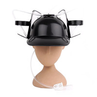 Beer Drinking Helmet (U Pick Color) Hat Game Drink Fun Party Baseball Dispenser  BLACK