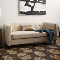Chester Tufted Upholstered Sofa