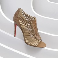 Christian Louboutin 'Amal' Ostrich Leather Sandal (Women) | Nordstrom