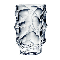 Bohemia Calypso Collection Decorative Clear Crystal Flower Vase