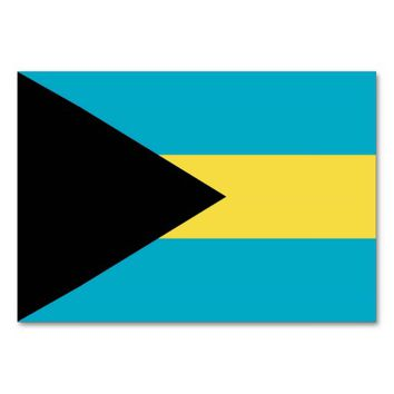 Patriotic table card with Flag of Bahamas