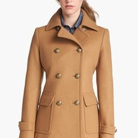 Kristen Blake Skirt Back Peacoat (Regular & Petite) (Nordstrom Exclusive) | Nordstrom