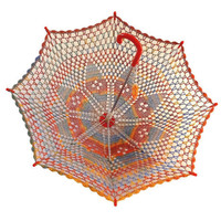 32 Diamond Rainbow Multicolor Lace Crochet UMBRELLA by kolus79