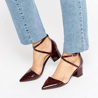 Miss KG Ava Ankle Strap Point Mid Heeled Shoes