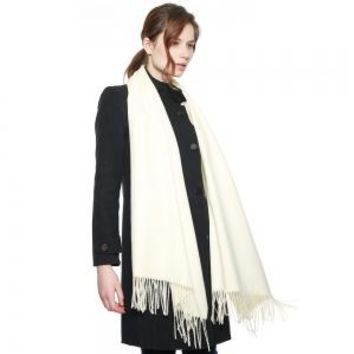 Cashmere Feel Scarf- Ivory