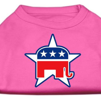 Republican Screen Print Shirts  Bright Pink XL (16)