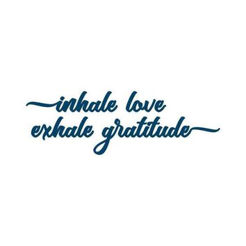 Inhale Love Exhale Gratitude Temporary Tattoo