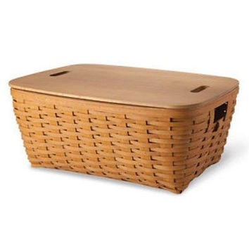 Longaberger Small Laundry Basket, Lid, Protector - 3 Colors  **NEW**