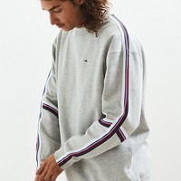 Tommy Hilfiger Racing Stripe Crew Neck Sweatshirt   Urban Outfitters