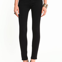 HIGH RISE ZIPPER SKINNY PANTS