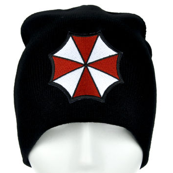 Resident Evil Umbrella Corporation Beanie Alternative Clothing Knit Cap