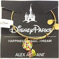 Disney Alex and Ani UP Floating House Bracelet Gold Finish New with Tag