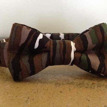 Camo Bow Tie Dog or Cat Small