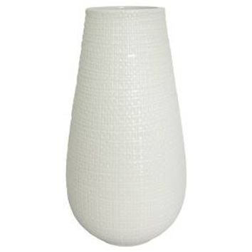 Textured Ceramic Vase White Tall - Threshold™