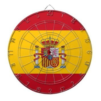 Dartboard with Flag of Spain