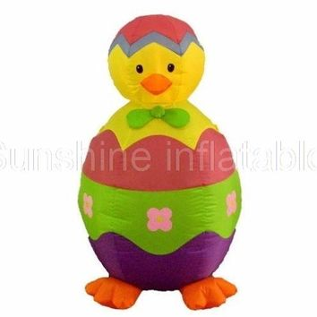 2017 New 8FT Giant Easter Inflatable Baby Chick and Egg Lawn Spring Yard Indoor Outdoor Decoration