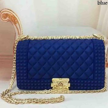 Chanel Exquisite Elegant Leather Women Fashion Tote F-LLBPFSH Blue