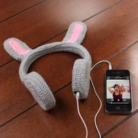 BunnyPHONES Kids / Childrens Crocheted Animal Rabbit Ear Stereo Headphones with Screen Cloth for Google Nexus 7 , Samsung Galaxy Tab 2 , Asus Transformer Pad Infinity TF700T , HP Slate 7 , Apple iPad , and Many More Tablets!