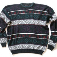 Shop Now! Ugly Sweaters: Shapes & Stripes Vintage 80s Tacky Ugly Cosby Sweater Men's Size XL $22 - The Ugly Sweater Shop