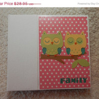 SALE 6x6 Family Scrapbook Photo Album