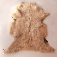 Sheepskin Rug in Strawberry Cream