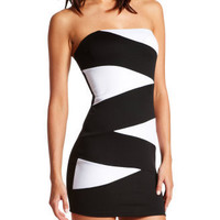 Charlotte Russe - Spliced-Front Tube Dress