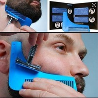 The Beard Bro- Complete Beard Shaping Tool, (Color: Blue) [8323332737]