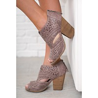 Azalea Not Rated Cutout Booties (Grey)