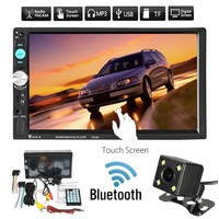 """7"""" LCD Double Din In-dash Head Unit Bluetooth Car Stereo Radio MP5 Player, Touch Screen (Size: Car Radio Only(No Camera), Color:"""