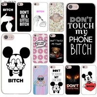 Lavaza Bitch Don't touch my phone Hard Cover Case for iPhone X XS Max XR 6 6S 7 8 Plus 5 5S SE 5C 4S 10 Phone Cases 7Plus 8Plus