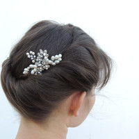 Bridal Jewelry, freshwater pearls,Wedding hair accessories,bridal hair accessories,Crystal headpiece