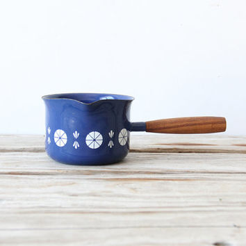 Dark Blue Cathrineholm Small Enamelware Pan