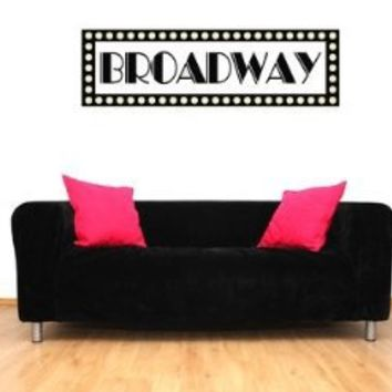 Broadway Sign New York Vinyl Wall Decal Sticker Graphic By LKS Trading Post
