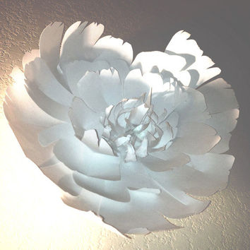 Wedding or Party  Giant White paper flower by SalvageTheWorld