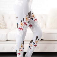 Spring Into Action Activewear Leggings (Floral Print)