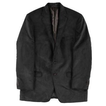 Lauren Ralph Lauren Mens Faux Suede Notch Lapel Two-Button Suit Jacket