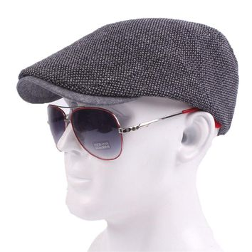 Fasbys 2017 Fashion Gatsby Newsboy Cotton Pure Cap Men Houndstooth Hat Driving Ivy Flat Cabbie Unisex Berets Hats Duckbill Caps