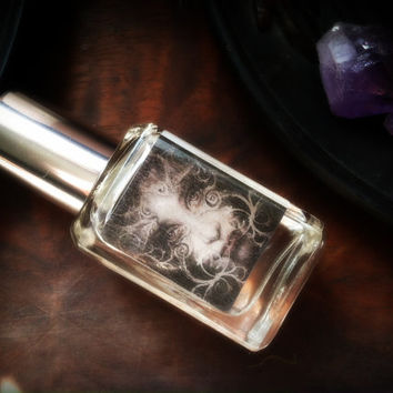 Parting The Veil - Halloween Perfume Samhain Perfume Oil - Cold Night Air Damp Earth Hawthorn Berry White Amber Incense