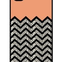 iZERCASE Chevron Pattern Coral and Black rubber iphone 4 case (NOT GLITTERY) - Fits iphone 4 & iphone 4s:Amazon:Cell Phones & Accessories
