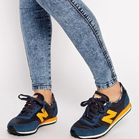 New Balance 410 Suede/Wax Canvas Blue Sneakers