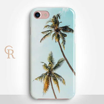 Palm Trees Phone Case For iPhone 8 iPhone 8 Plus - iPhone X - iPhone 7 Plus - iPhone 6 - iPhone 6S - iPhone SE - Samsung S8 - iPhone 5