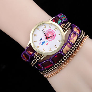 Shiny Awesome Great Deal Hot Sale New Arrival Gift Fashion Stylish Rivet Necklace Ladies Watch Bracelet [6586423239]