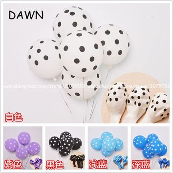 20pcs/lot 12inch 2.8g  Ladybug Polka dot latex balloon Mickey Mouse theme birthday globos wedding baby shower party decorations