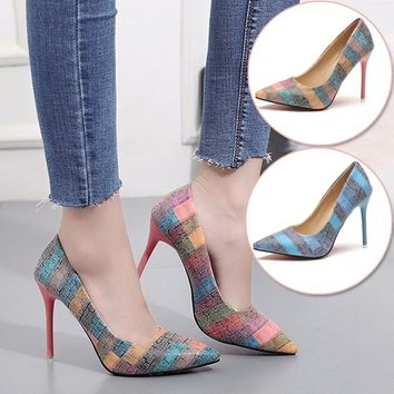 Spring Summer Autumn Pointed Toe High Heels