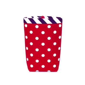 Car Trash Bag ~ Red Polka Dots