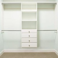 Martha Stewart Living, 72 in. H x 96 in. W Classic White Ultimate Closet Kit, 680072 at The Home Depot - Mobile