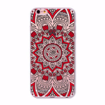 Red Flower Mandala Boho Case for iPhone 5 5s SE 6 6s